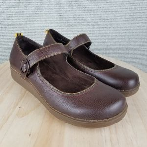 ALDO Leather Mary Jane Buckle Strap Comfort Clogs